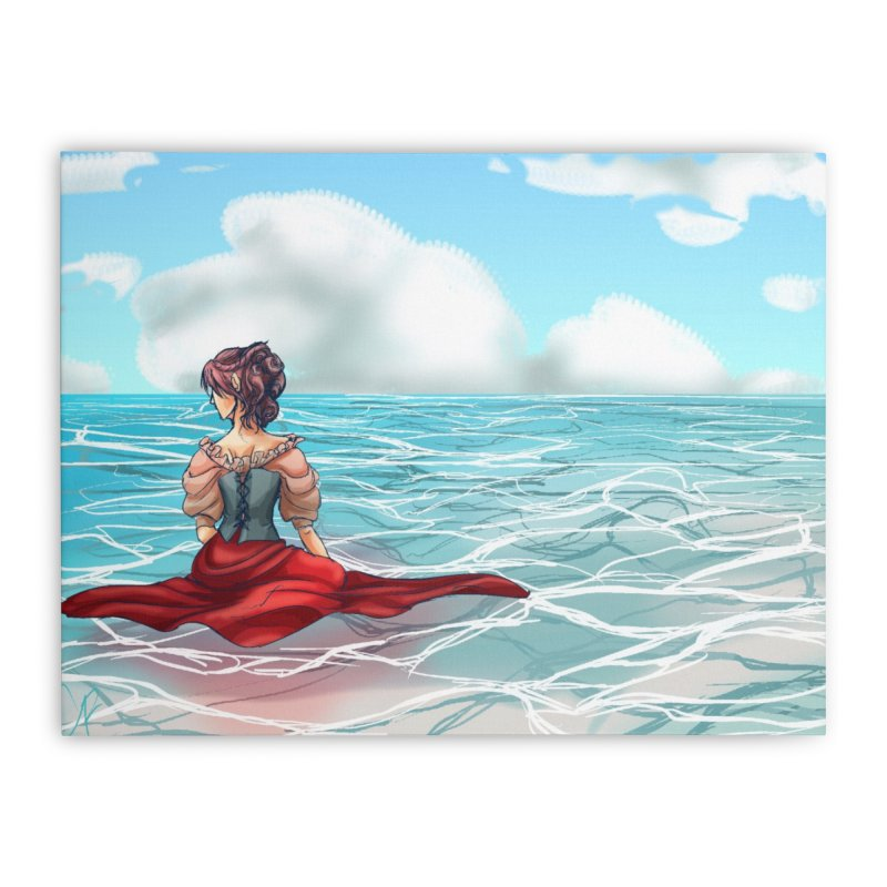 Floating on the Water Home Stretched Canvas by Magpies and Pigeons
