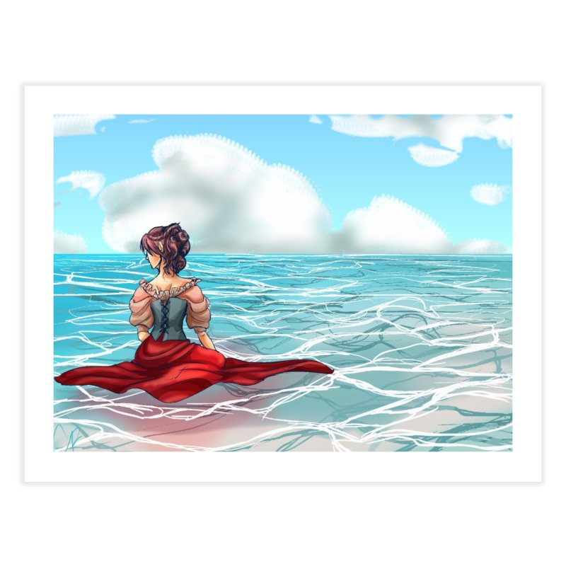 Floating on the Water Home Fine Art Print by Magpies and Pigeons