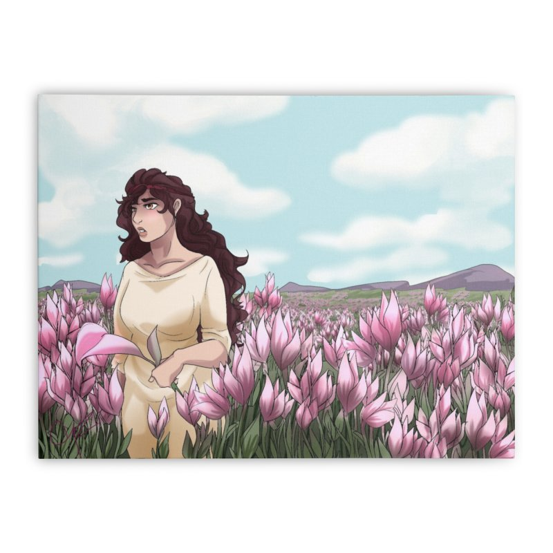 Weeping in the Lilies Home Stretched Canvas by Magpies and Pigeons