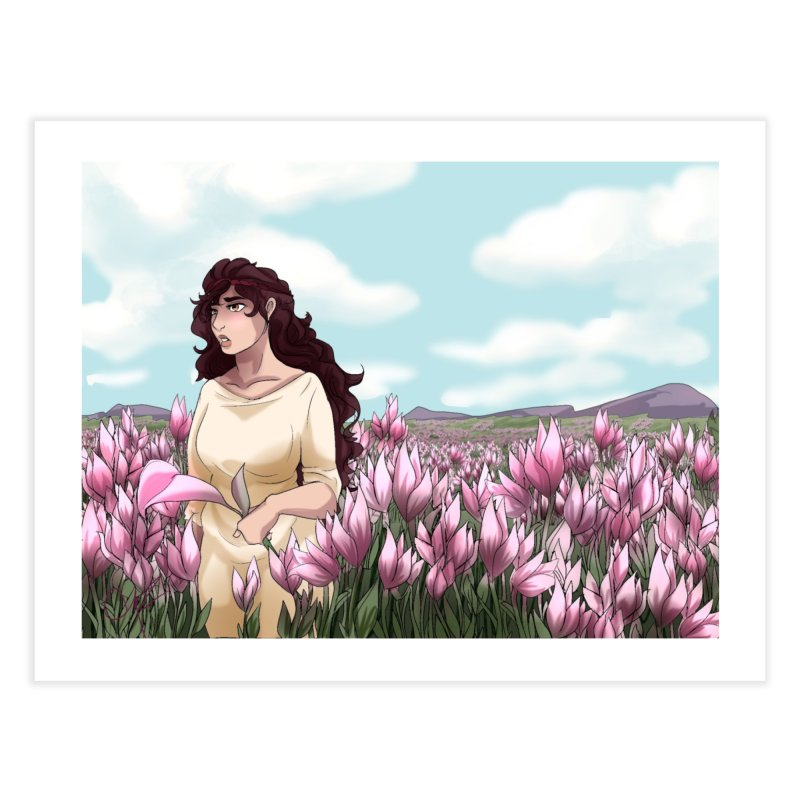 Weeping in the Lilies Home Fine Art Print by Magpies and Pigeons