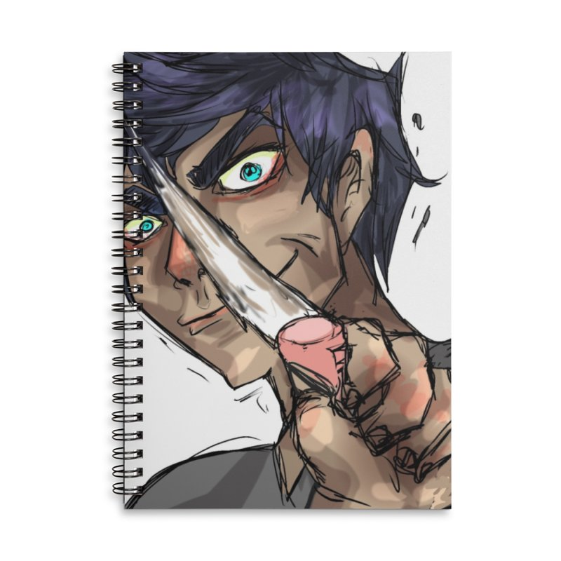 Eraserface Accessories Lined Spiral Notebook by Magpies and Pigeons