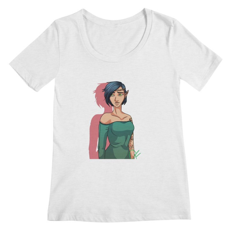Elf Lady Women's Regular Scoop Neck by Magpies and Pigeons