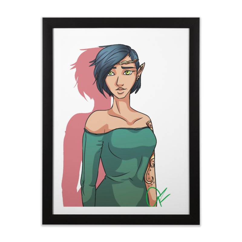 Elf Lady Home Framed Fine Art Print by Magpies and Pigeons