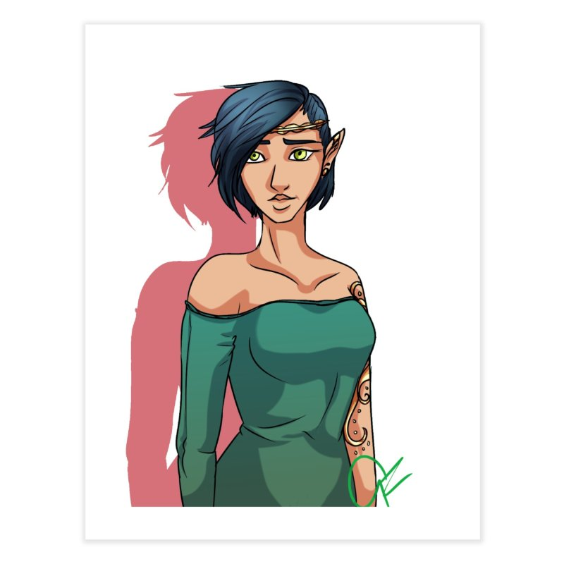Elf Lady Home Fine Art Print by Magpies and Pigeons