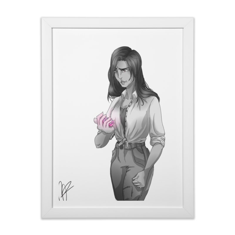 Colorless Lily Home Framed Fine Art Print by Magpies and Pigeons