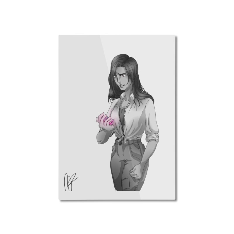 Colorless Lily Home Mounted Aluminum Print by Magpies and Pigeons
