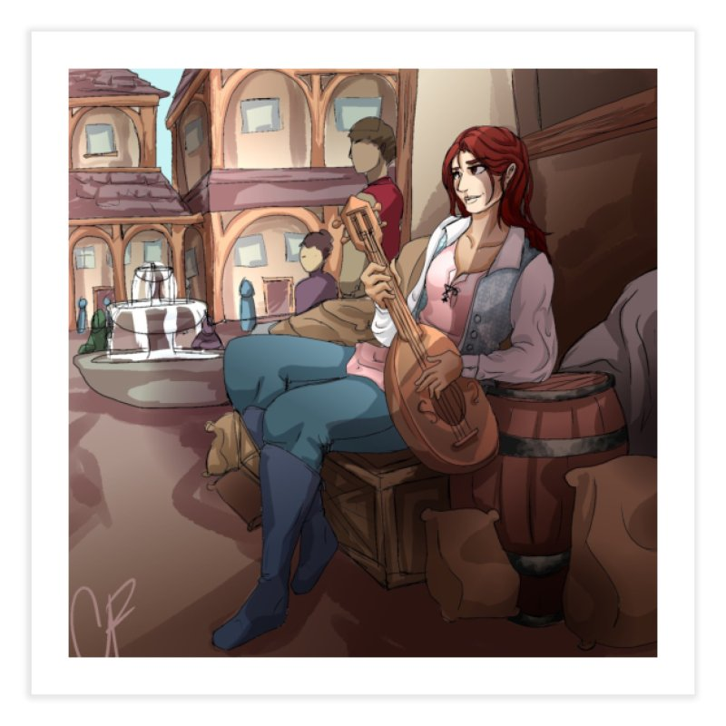 Bard in the Barrels Home Fine Art Print by Magpies and Pigeons