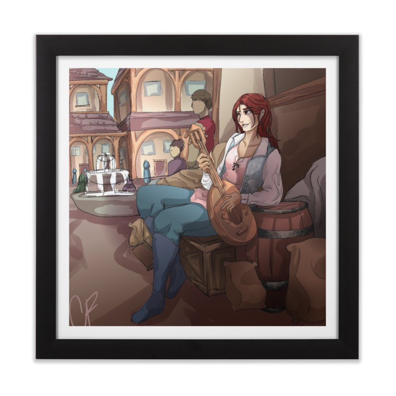 Bard in the Barrels Home Framed Fine Art Print by Magpies and Pigeons
