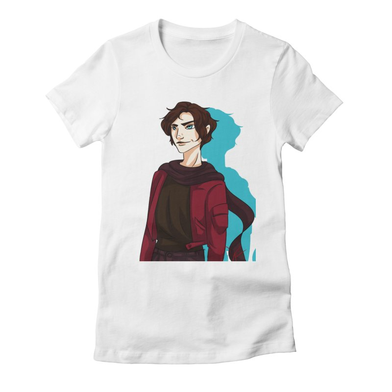 Scarf Man Women's Fitted T-Shirt by Magpies and Pigeons