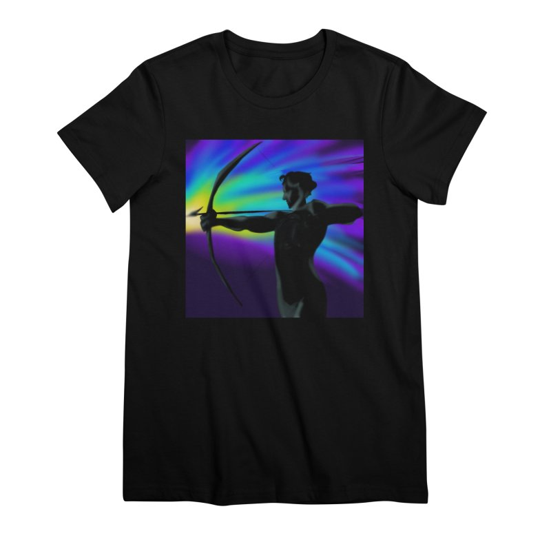 Shooting Star Archer Women's Premium T-Shirt by Magpies and Pigeons