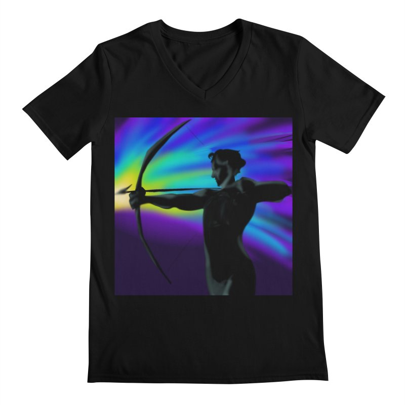 Shooting Star Archer Men's V-Neck by Magpies and Pigeons