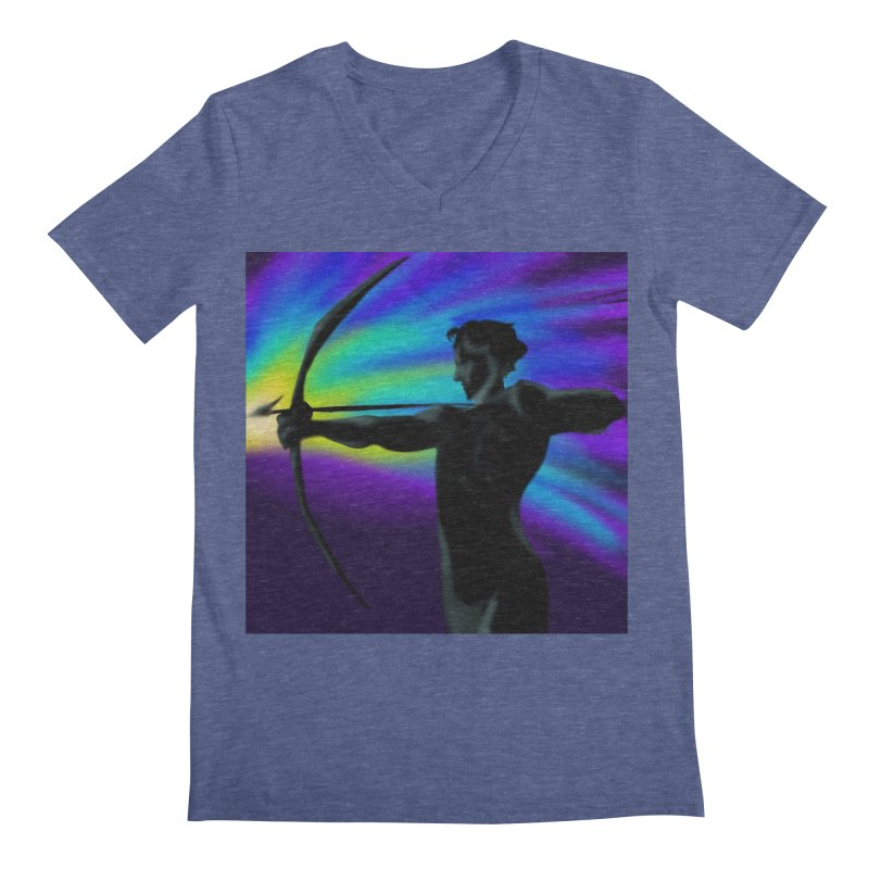 Shooting Star Archer Men's Regular V-Neck by Magpies and Pigeons