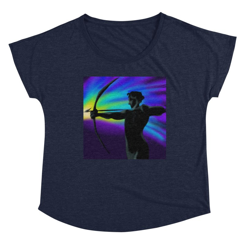 Shooting Star Archer Women's Scoop Neck by Magpies and Pigeons