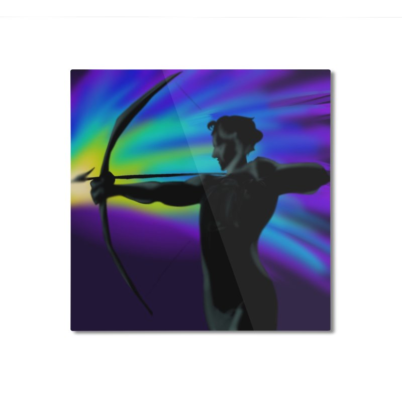 Shooting Star Archer Home Mounted Aluminum Print by Magpies and Pigeons
