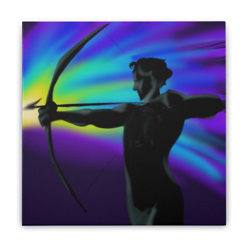 Shooting Star Archer Home Stretched Canvas by Magpies and Pigeons