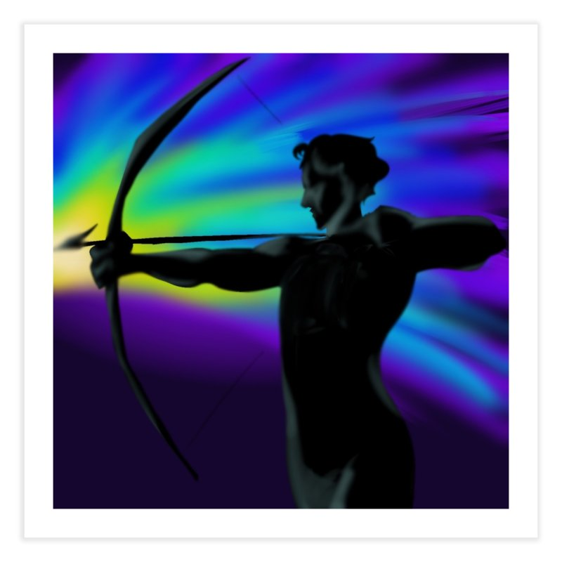 Shooting Star Archer Home Fine Art Print by Magpies and Pigeons