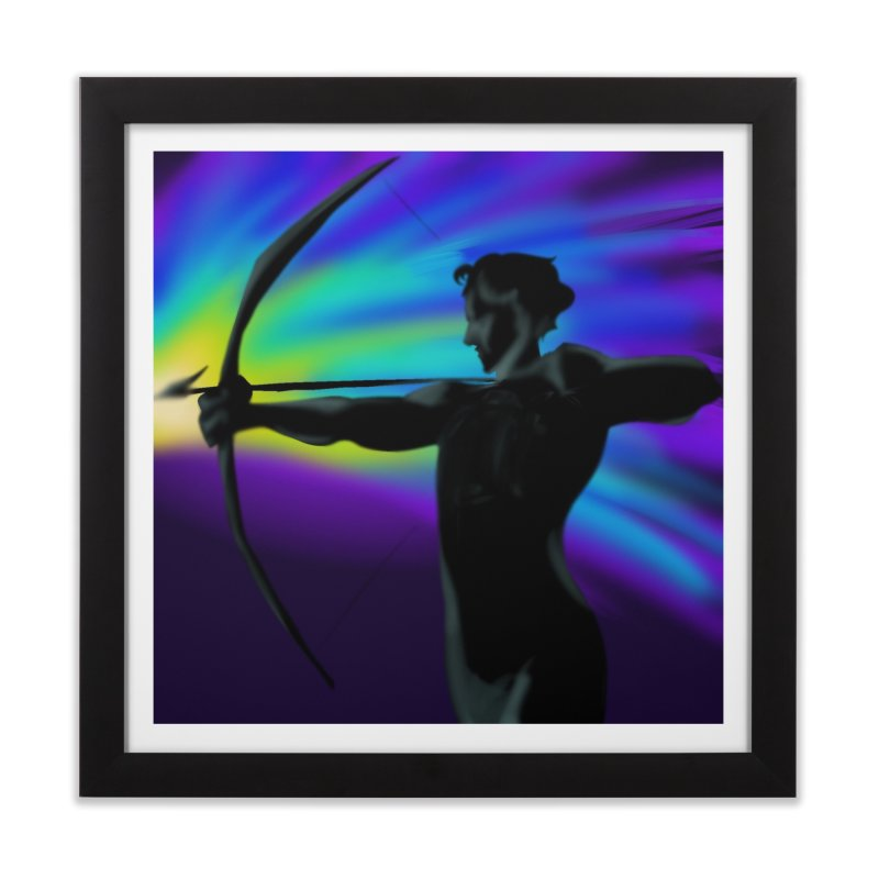 Shooting Star Archer Home Framed Fine Art Print by Magpies and Pigeons