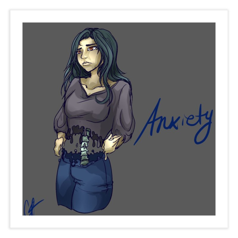 Anxiety is a Beast Home Fine Art Print by Magpies and Pigeons