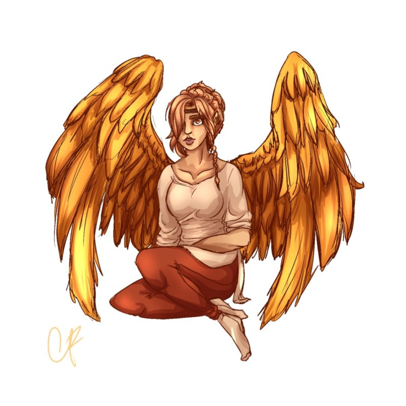 Phoenix  but a Person Women's V-Neck by Magpies and Pigeons