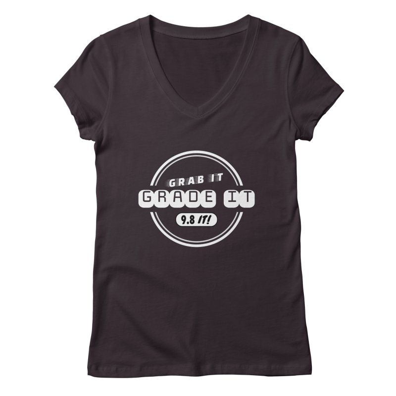 Grab It, Grade It, 9.8 It! Women's Regular V-Neck by Certified Comic Shop