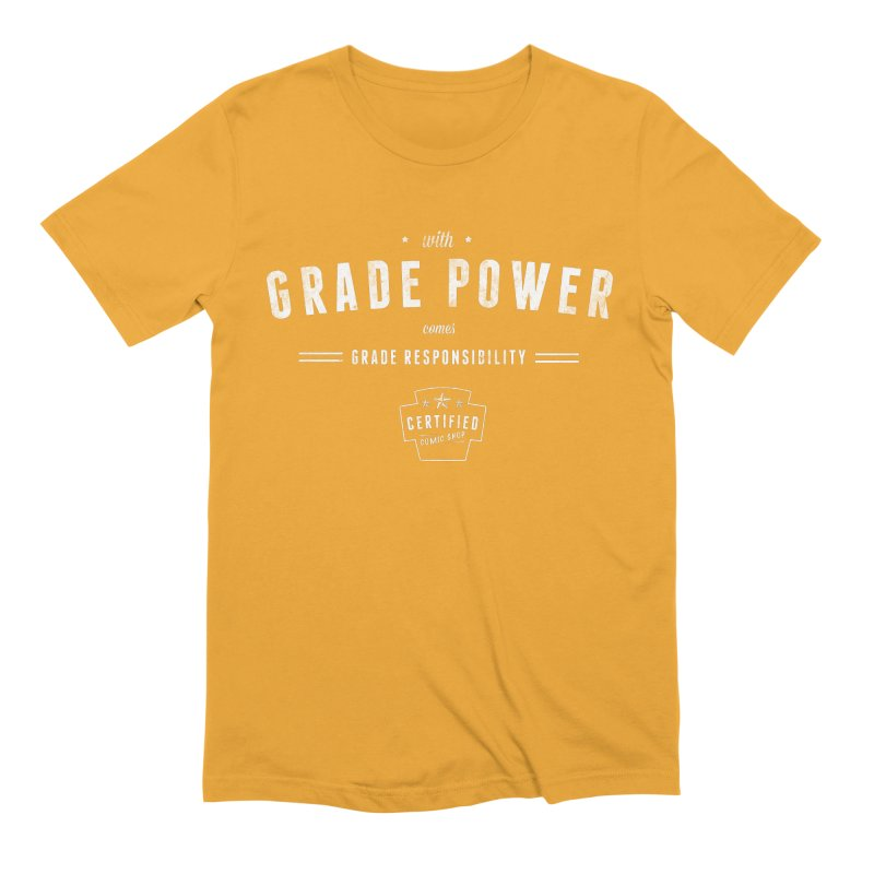 With Grade Power Shirt Men's T-Shirt by Certified Comic Shop