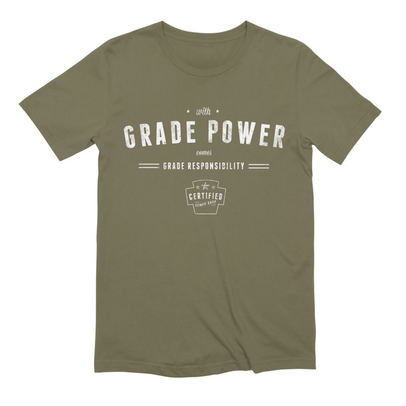 With Grade Power Shirt Men's Extra Soft T-Shirt by Certified Comic Shop