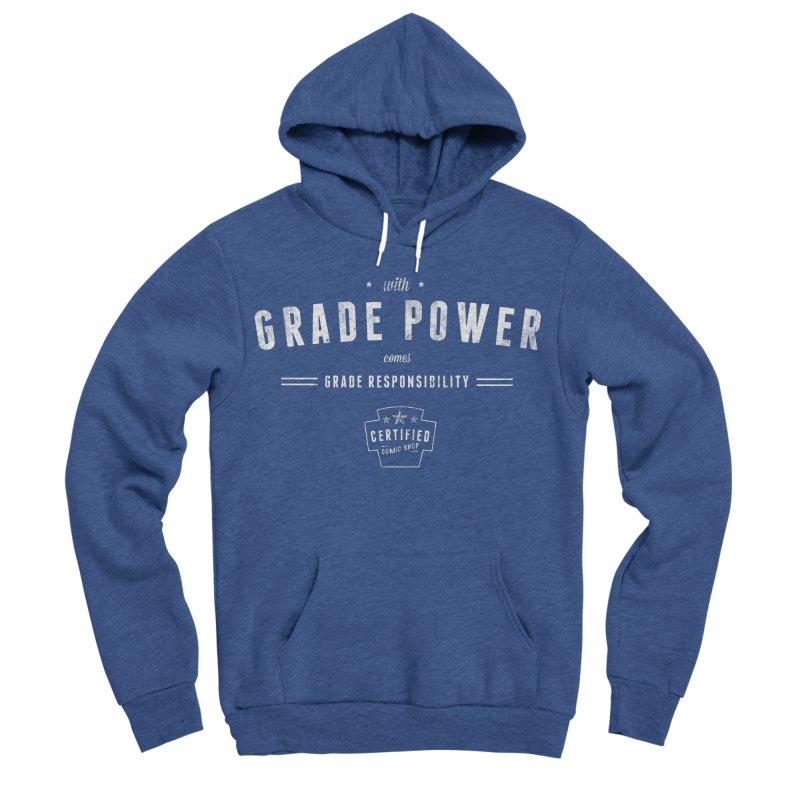 With Grade Power Shirt Men's Sponge Fleece Pullover Hoody by Certified Comic Shop