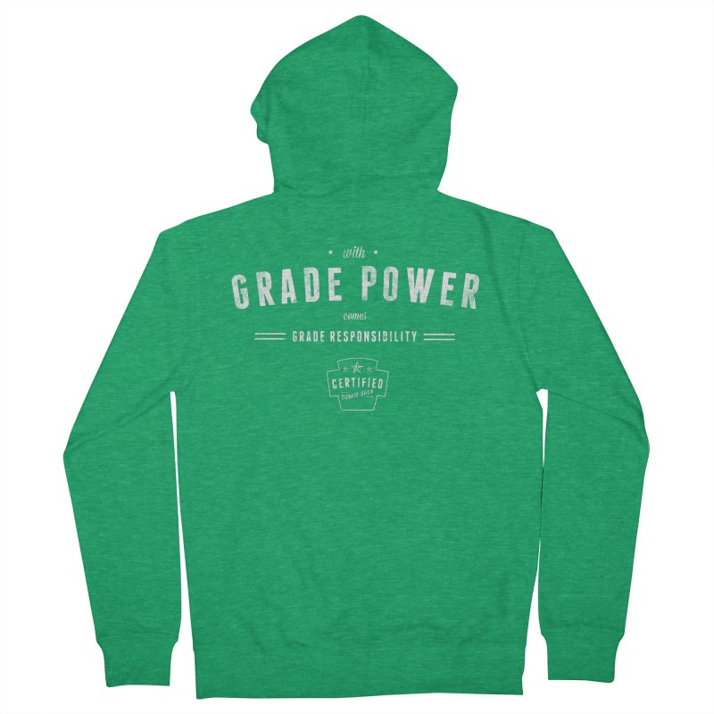 With Grade Power Shirt Men's Zip-Up Hoody by Certified Comic Shop