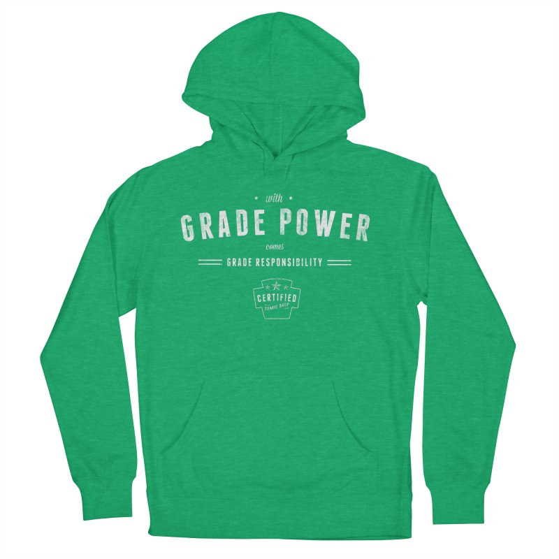 With Grade Power Shirt Women's French Terry Pullover Hoody by Certified Comic Shop