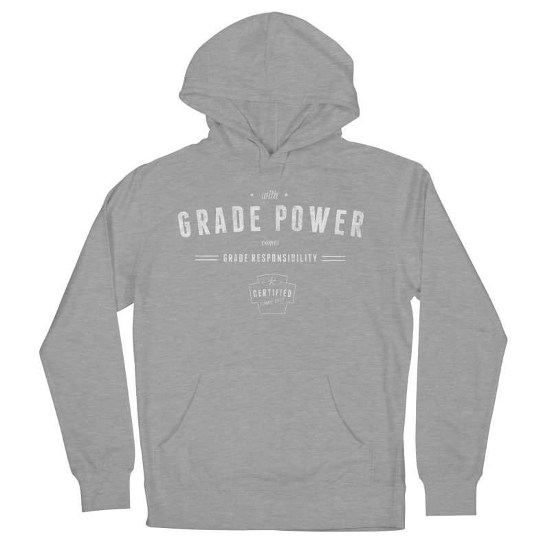 With Grade Power Shirt Men's French Terry Pullover Hoody by Certified Comic Shop