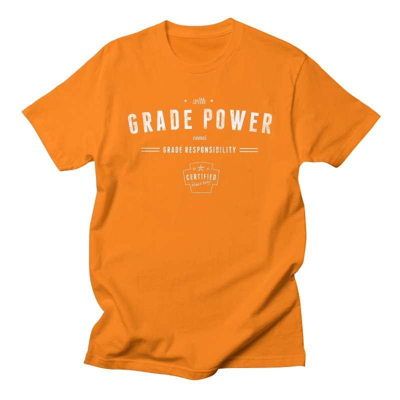 With Grade Power Shirt Men's Regular T-Shirt by Certified Comic Shop