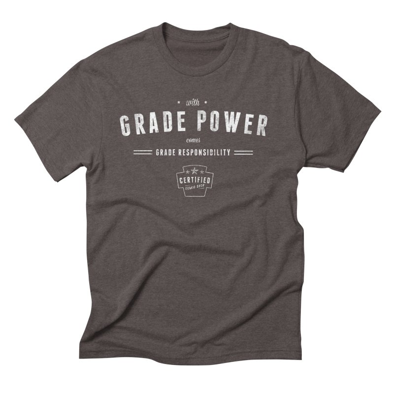 With Grade Power Shirt Men's Triblend T-Shirt by Certified Comic Shop