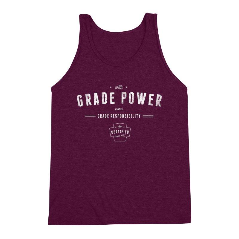 With Grade Power Shirt Men's Triblend Tank by Certified Comic Shop