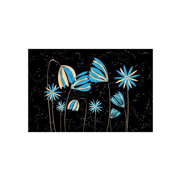 image for Blue and peach daisies