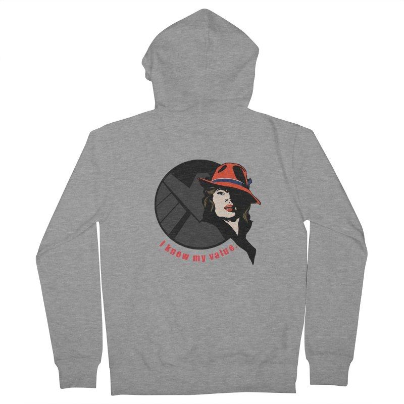Agent of Value Men's Zip-Up Hoody by CFDunbar Designs