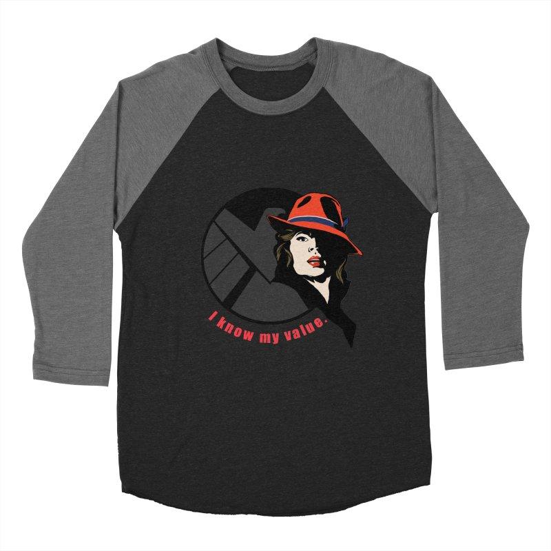 Agent of Value Women's Baseball Triblend T-Shirt by CFDunbar Designs