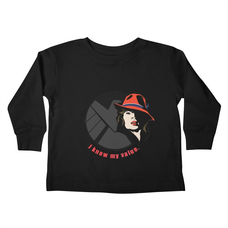 Agent of Value Kids Toddler Longsleeve T-Shirt by CFDunbar Designs