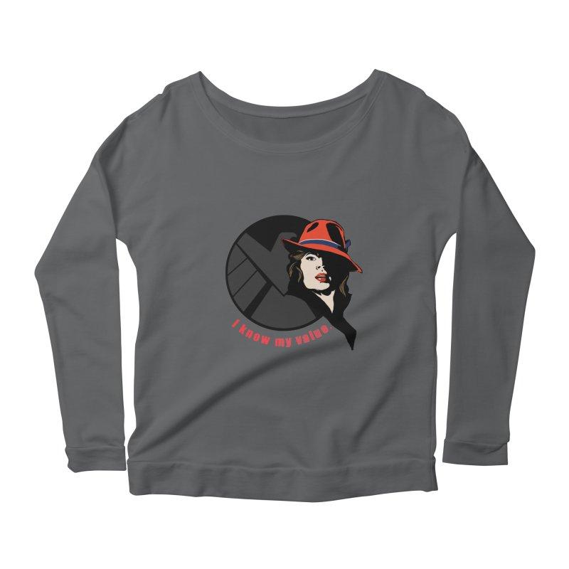 Agent of Value Women's Longsleeve Scoopneck  by CFDunbar Designs