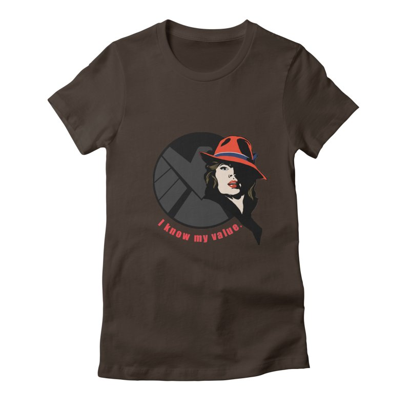 Agent of Value Women's Fitted T-Shirt by CFDunbar Designs