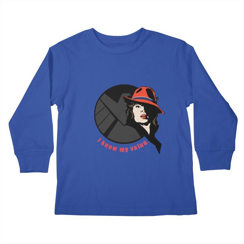 Agent of Value Kids Longsleeve T-Shirt by CFDunbar Designs