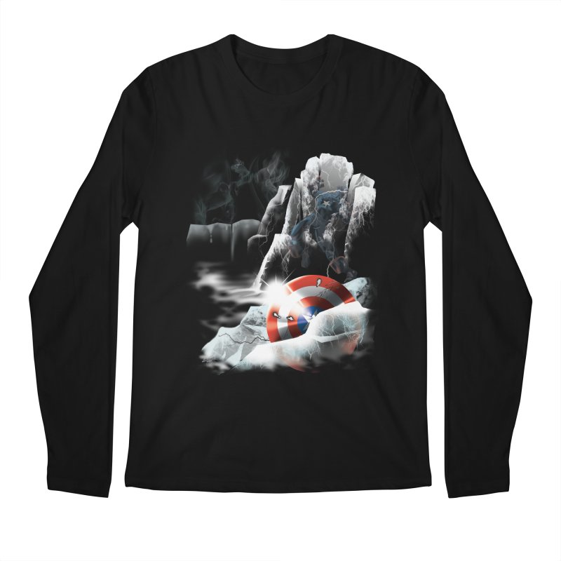 Captain: On Ice Men's Longsleeve T-Shirt by CFDunbar Designs
