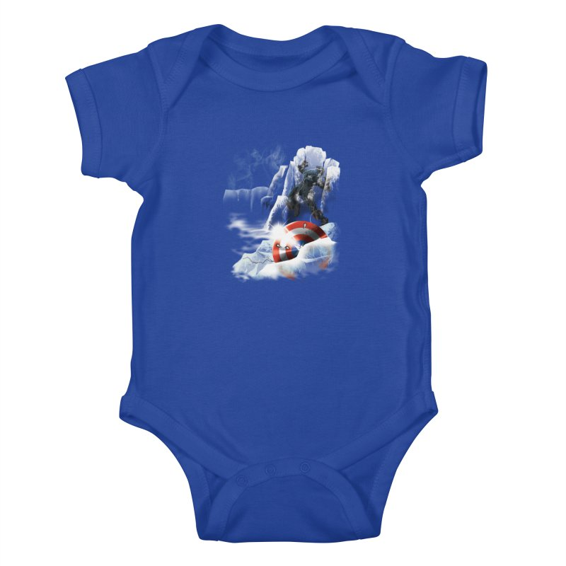 Captain: On Ice Kids Baby Bodysuit by CFDunbar Designs