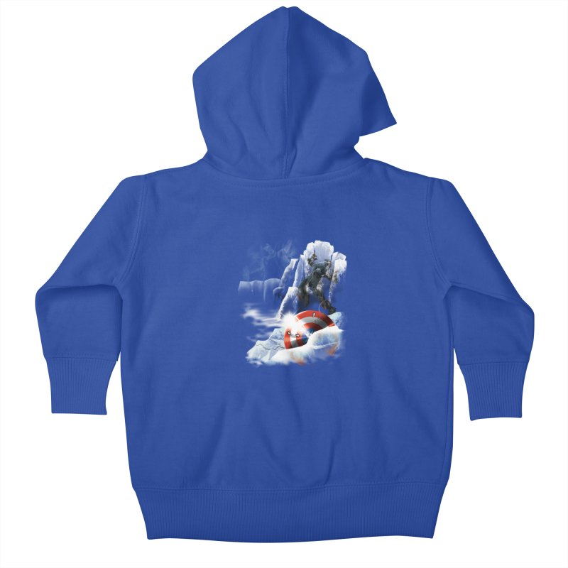 Captain: On Ice Kids Baby Zip-Up Hoody by CFDunbar Designs