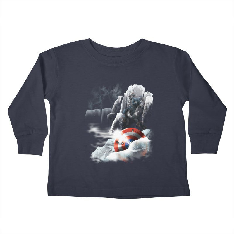 Captain: On Ice Kids Toddler Longsleeve T-Shirt by CFDunbar Designs