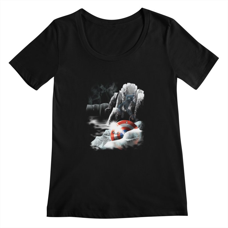 Captain: On Ice Women's Scoopneck by CFDunbar Designs