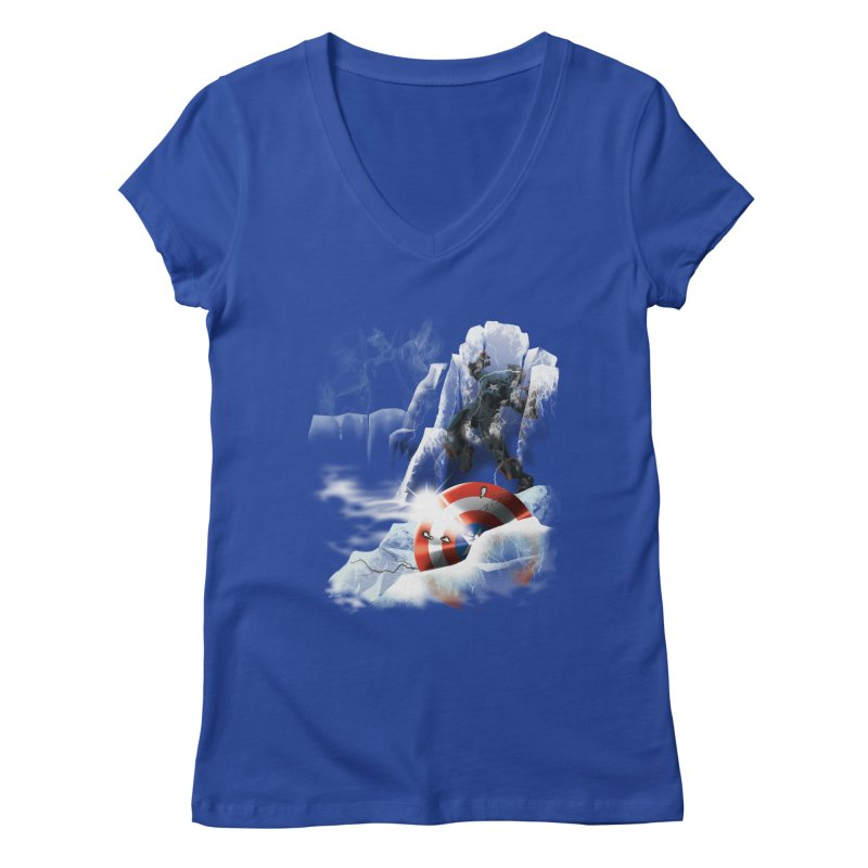 Captain: On Ice Women's V-Neck by CFDunbar Designs