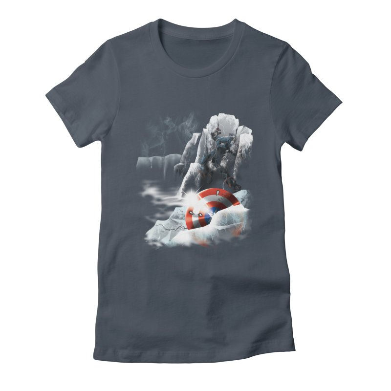 Captain: On Ice Women's Fitted T-Shirt by CFDunbar Designs