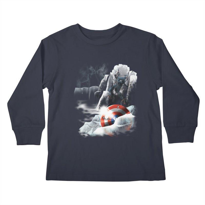 Captain: On Ice Kids Longsleeve T-Shirt by CFDunbar Designs