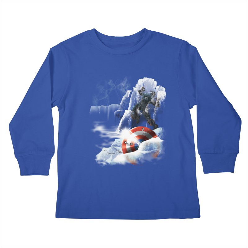 Captain: On Ice Kids Longsleeve T-Shirt by CFDunbar Designs