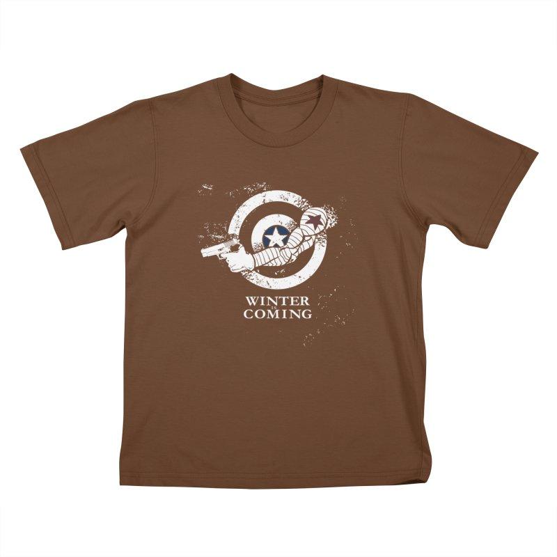 Bucky is Coming Kids T-shirt by CFDunbar Designs